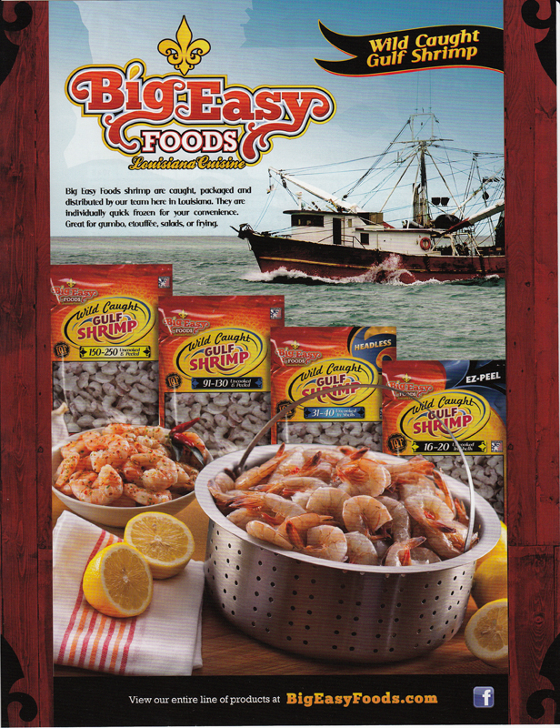 Big Easy Foods Gulf Island Shrimp
