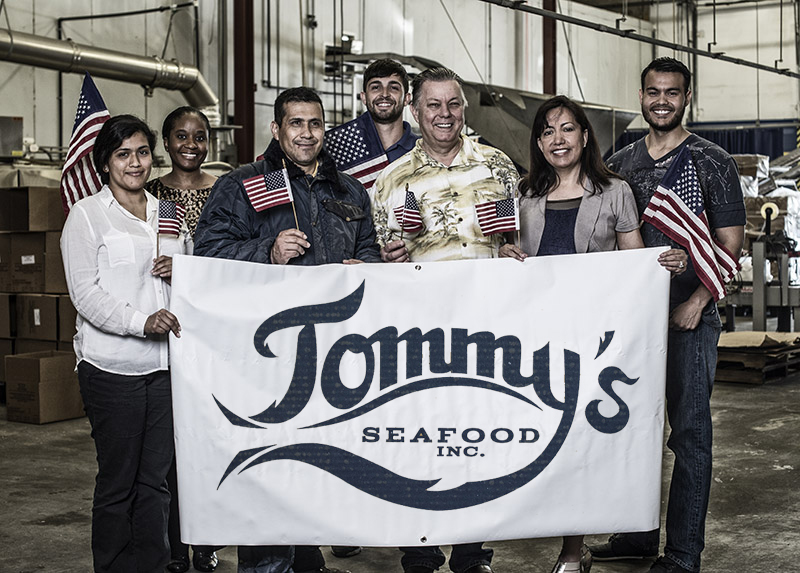 Tommy's Seafood, Processors of Bayou Blues crab, Gulf Atlantic Wild American Shrimp, and their own oysters